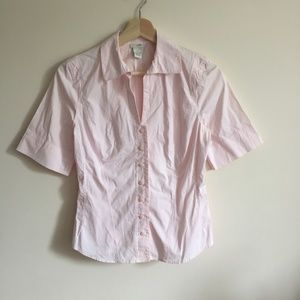 Anthropologie Tops - ANTHROPOLOGIE Baby Pink Button Down Top